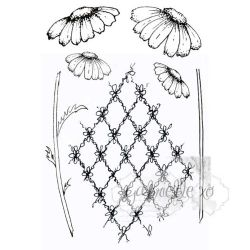 "49 & Market Clear Stamps 4""X6"" - Gabi's Daisies"